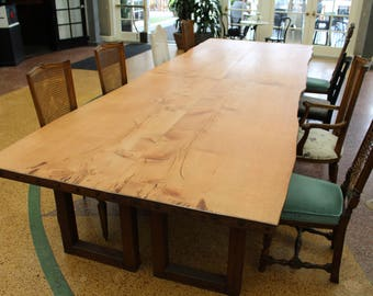 Conference Table 14FT | Dinning Table | Community Table | Long Wood Table |  Slab Table