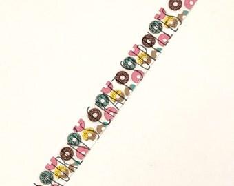 "Donut Ribbon | Doughnut Ribbon | Food Ribbon | US Designer Ribbon | 7/8"" Ribbon | Grosgrain Ribbon"