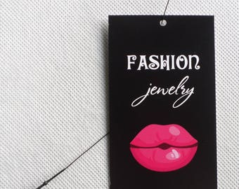 100 FASHION TAGS BOUTIQUE Clothing Tags Price Tags Cute Fashion Jewelry Tags Plastic Loop Pins  Accessories Tags at Rebes Creations