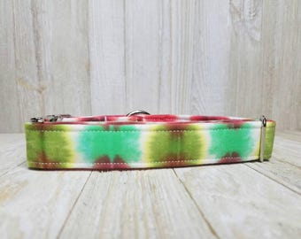 Christmas in July Tie Dye Dog Collar