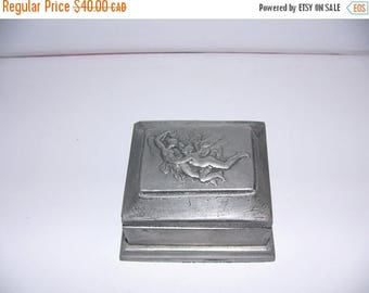 ON SALE Vintage Pewter Box