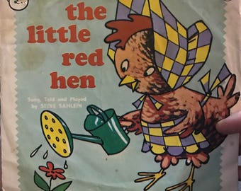The Little Red Hen Peter Pan record 45 rpm 655 Steve Sahlein