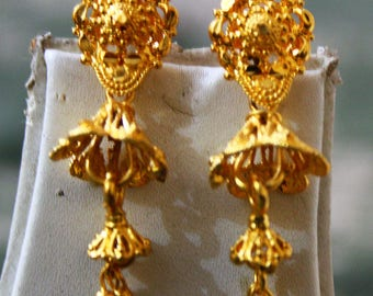 Traditional Jewelry Indian Bridal Earring South Indian Fashion Drop Dangle Earrings Antique Jewellery Gift For Her