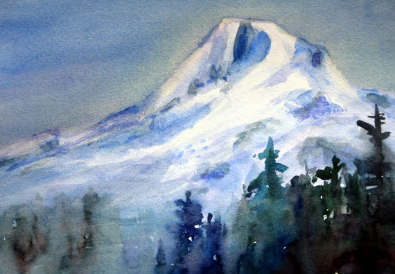 Mt. Hood 282 - watercolor painting of Mt. Hood by Bonnie White - original painting