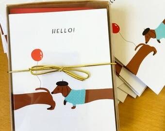 Hello greeting card.