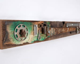 Recycled Assemblage Art - Mixed Media Art - Upcycled Art - Found Object Art