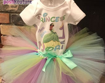 2 Pc Princess Tiana in Pastels Tutu Set