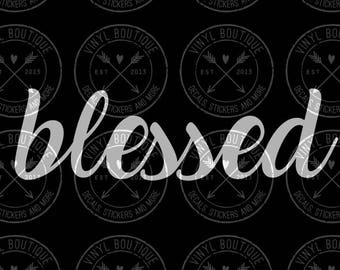 Blessed Christian Decal Yeti Ozark Tumbler Cup Laptop Car Decal Sticker