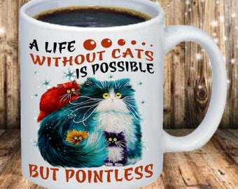 A life without cats Coffee Mug