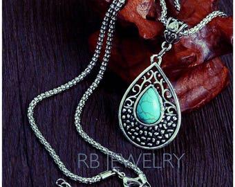 Vintage Turquoise Stone Necklace