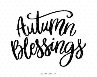 Autumn blessings, Svg files, Hello fall svg file, Autumn svg, Fall svg, Svg cut files, Quote svg, Cute svg, Sweet svg, Handlettered svg