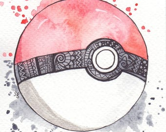 4x4 Pokemon Pokeball Print