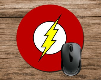 Superhero Mouse Pad, Flash Mouse Pad, Round Mouse Pad, Office Gift, Co-Worker Gift, Boss Gift, Student Gift