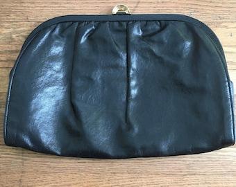 Vintage, Faux Leather Clutch