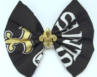 New Orleans Saints - Unique Saints Birthday Gift - Saints Dog Bow Tie - Saints Hair Bow - Saints Cat Bow Tie