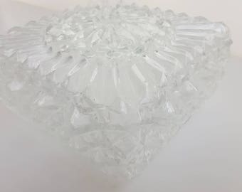 Ceiling Lamp made of Clear Glass 1960s, retro plafonniere