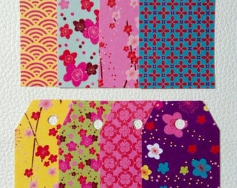 Set of 8 gift tags, Japanese design