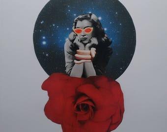Rose tinted Vision A3 Print