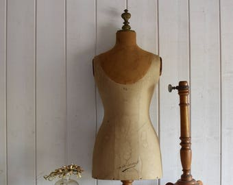 Oops! SOLD for Denis! Antique French  dress form CHILD Mannequin bust GIRARD Paris France  19th