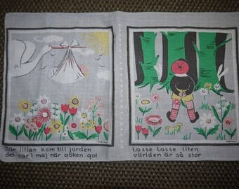 Wall Hanging  - Children songs - M Bûhler - Sweden - Retro - 70s - Scandinavian Design -