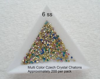 M* - Crystal Chatons, Various Sizes and Colors, Packs of 200 pcs (2204)