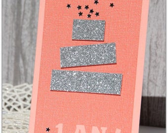 "Birthday card ""Cake surprise"" girl version"