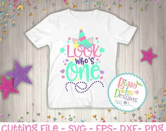 First birthday SVG, DXF, EPS cut file one cut file one svg unicorn svg one unicorn svg first birthday unicorn svg one svg one cut file