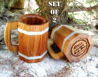 Personalized Groomsmen Gifts Wooden Beer Mug Best Man Ushers Gift Personalized Etched Wedding Gift Best Man Beer Stein Tankard Groomsman