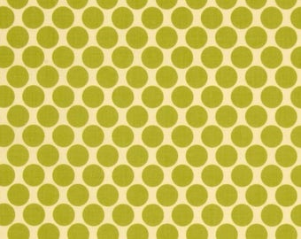 SALE Amy Butler Lotus Full Moon Polka Dot in Lime Green Fabric - Green Fabric by the Yard - Spot Dot Fabric - Clothing Apparel Quilt Fabric