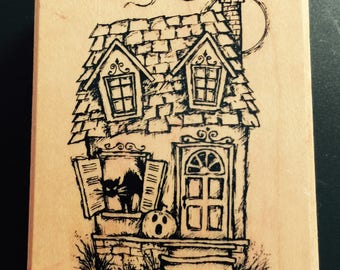 Haunted House Stamp