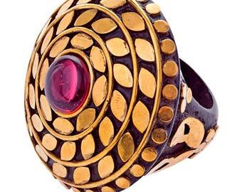 Fallon Ring Brass (R15: 18)