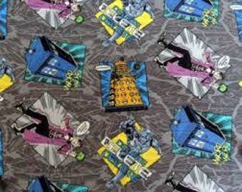 "Doctor Who I'm a madman with a box by Springs Creative fabric, 43"" wide, 100% cotton, by the half yard"