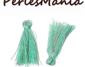 Green PASTEL thread with gold 25 mm S1164853 passementiere charm 20 tassels