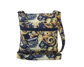 20% OFF SALE Doctor Who Exploding Tardis Crossbody Bag // Sling Bag // Crossbody Purse // Shoulder Bag // Hipster