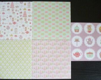 set of 5 sheets 15 x 15 cm: treats