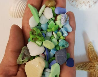 Sea pottery lot, milk glass, beach finds, beach pottery, Great for Jewelry, superb finds, Great for mosaic and craft