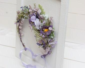 Lilac lavender mint flower crown Lavender wedding Bridal headpiece Wedding hair wreath Hair flowers Bridesmaid crown Maternity photo props