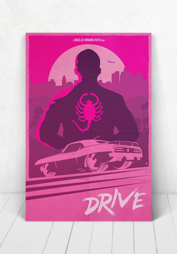 Drive Movie Poster Illustration / Drive Movie Poster / Movie Poster / Drive