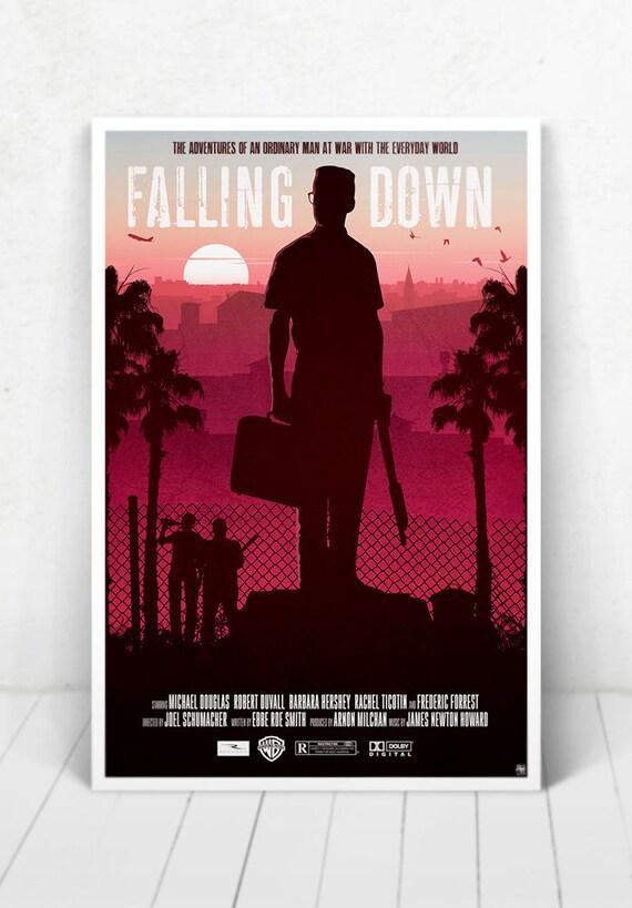 Falling Down Movie Poster Illustration / Falling Down Movie Poster / Movie Poster / Falling Down / Michael Douglas
