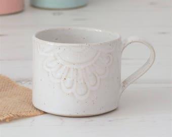 Handmade mug, coffee mug, mug, mugs, ceramic mug, pottery mug, white mug, tea mug, pottery, handmade gift, housewarming gift, ceramic, mug