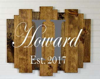 """Custom Painted Wood Sign on Multi Size Vertical Planks 29""""x24"""""""