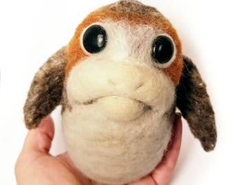 Porg plush needle felt Star Wars The Last Jedi made to order