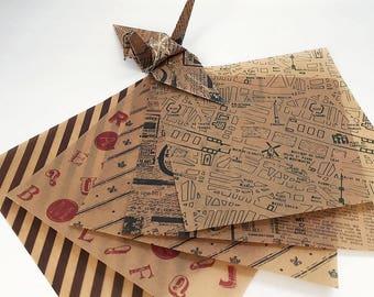 Origami Paper Sheets - Wax Paper - 30 Sheets
