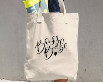 Boss Babe Cotton Tote Bag