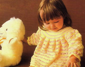 Baby Dress, Knitting Pattern. PDF Instant Download.