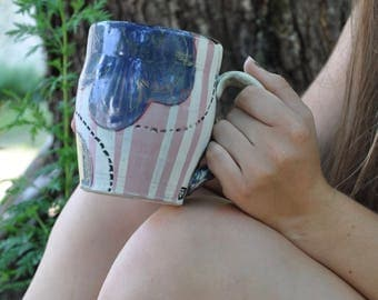 hand painted mug - 18oz
