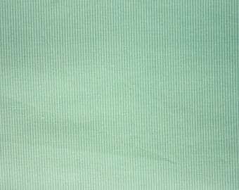 Very Fine Striped Fabric, Aquamarine, Pastel, Stripe, Cotton Fabric, Craft Fabric, Quilting Sewing Craft Supplies, Extra Wide, Half Metre