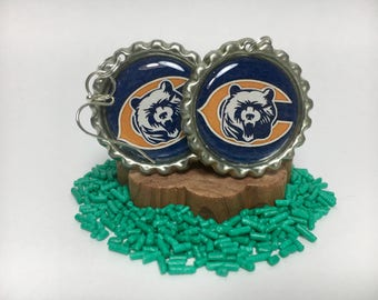 Chicago Bears Bottle Cap Style Hanging Earrings - Multiple Styles Available - Jewelry