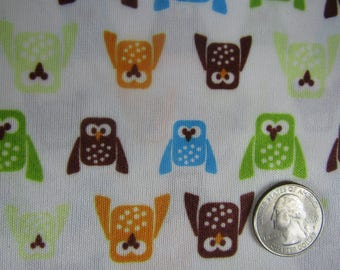 3 dollar BTY stretchy knit fabric with owls