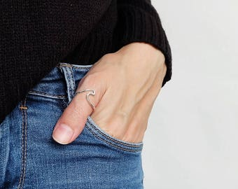 wave thumb ring, silver thumb ring, women thumb ring, thumb rings, thumb ring silver, thumb, thumb jewelry, thumb ring women, women thumb